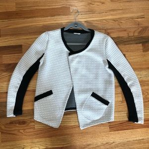 Club Monaco quilted knit ribbed blazer jacket S